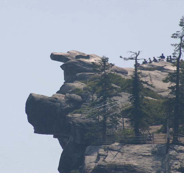 Overhanging rock