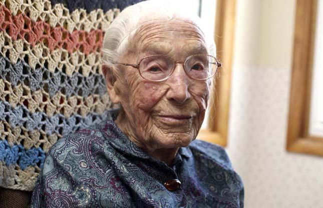 114 éves néni