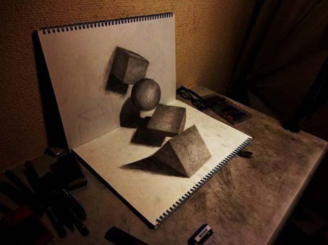 Nagai Hideyuki 3D-s rajzai