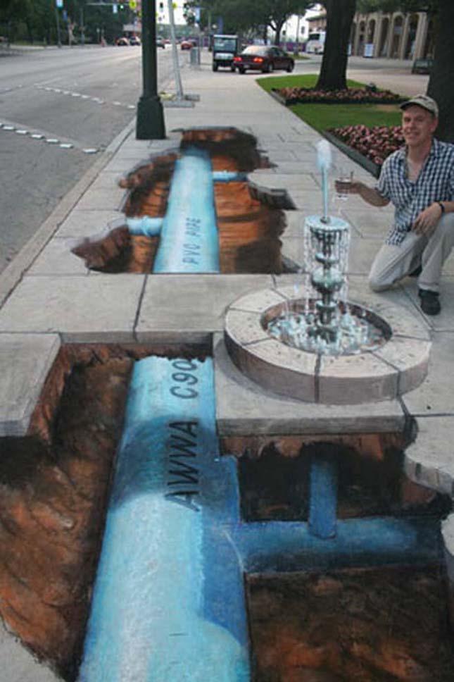 3D-s utcai művészet