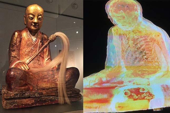 900 éves múmiát rejt a szobor