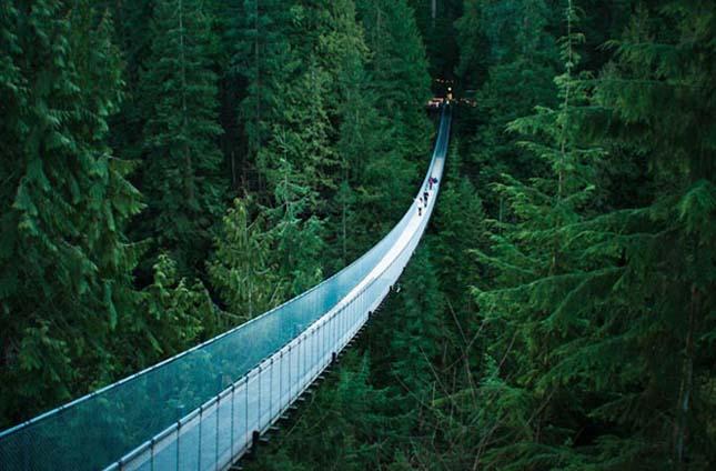 Capilano függőhíd, Vancouver, Brit Columbia