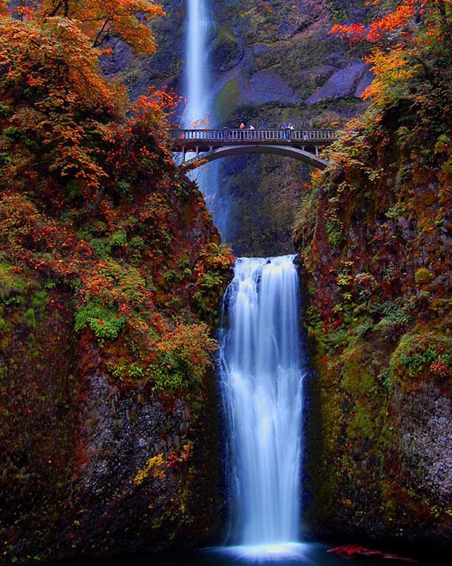 Multnomah-vízesés, Oregon, USA
