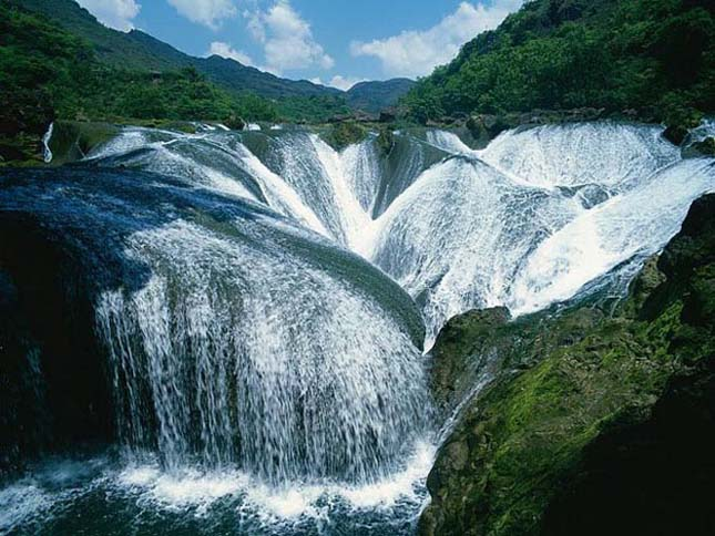 Pearl Shoal-vízesés, Szecsuán-tartomány, Kína