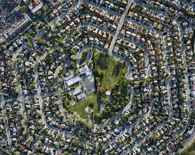Christoph Gielen légifotói amerikai lakóparkokról