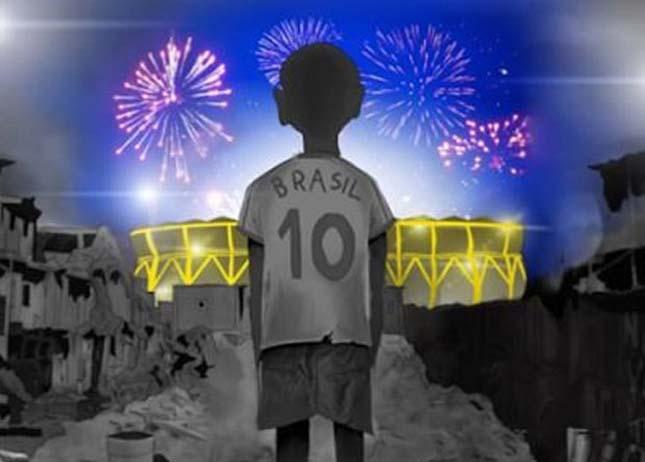 FIFA ellenes graffitik Brazíliában