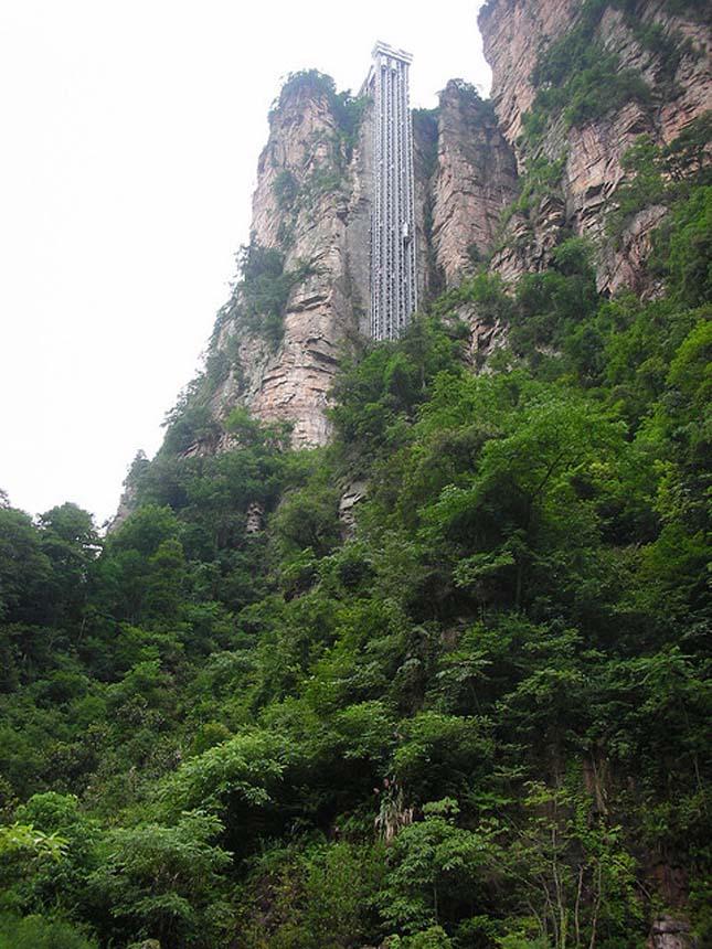Bailong lift, a világ legmagasabb liftje