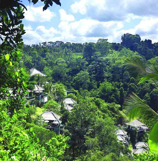 Ubud Hanging Gardens, luxushotel Balin