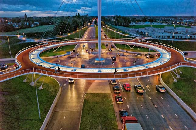 Biciklis körforgalom Hollandiában