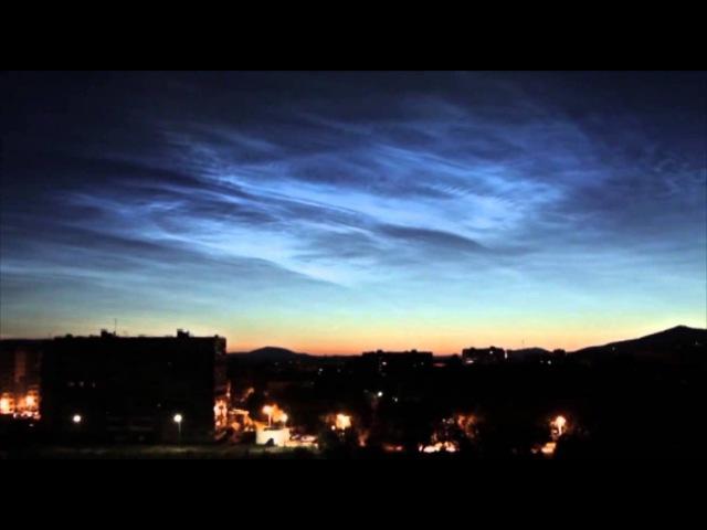 Világító felhők Cseljabinszk egén