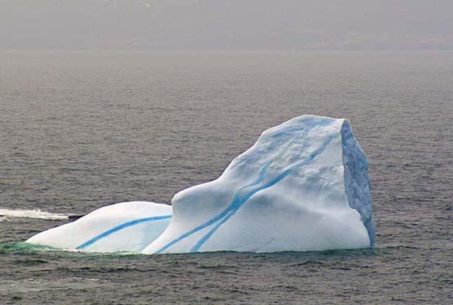Színes Csíkos jéghegyek