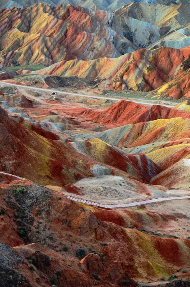 Danxia, színes kínai tájak