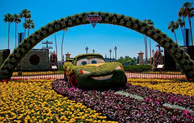 Virágfesztivál Disneyland-ben