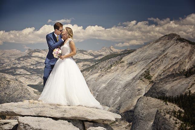 Esküvői fotózás a Half Dome-on