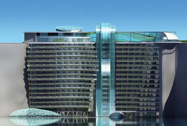 Földalatti luxushotel épül Sanghajban