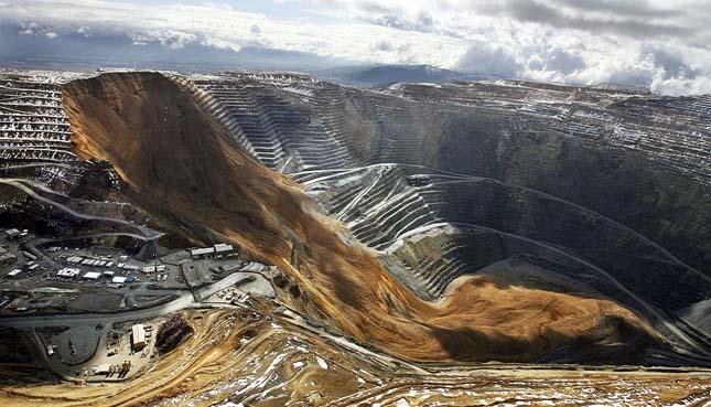 Földcsuszamlás egy amerikai bányában
