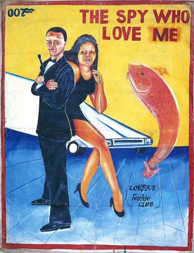 Filmplakátok Ghánában