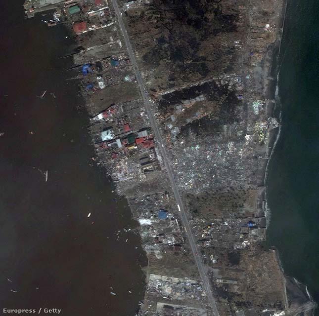 Haiyan tájfun műholdkép
