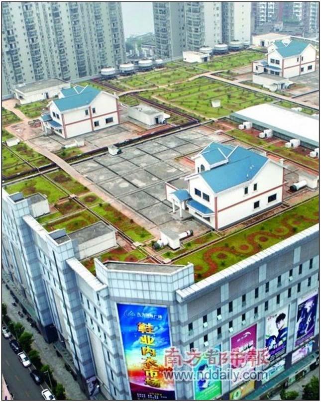 Bevásárlóközpontokra épült házak