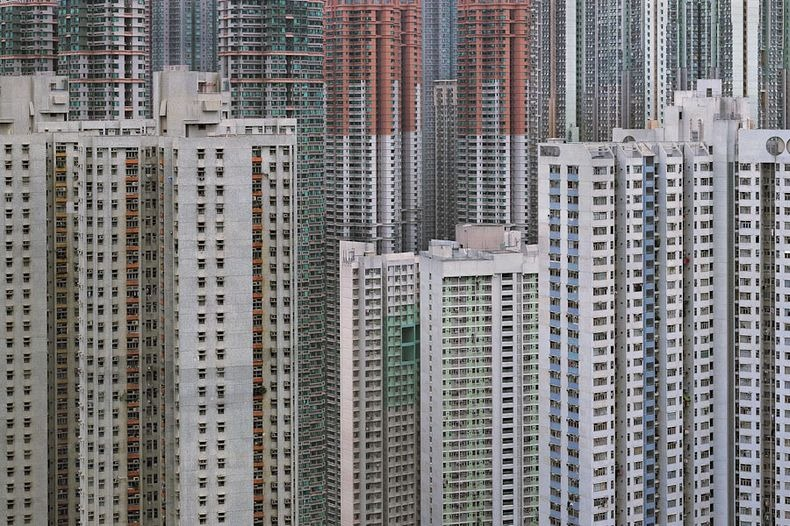 Hatalmas hong kongi lakótelepek