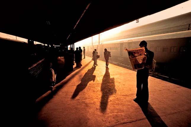 Indiai vonatozás - Steve McCurry