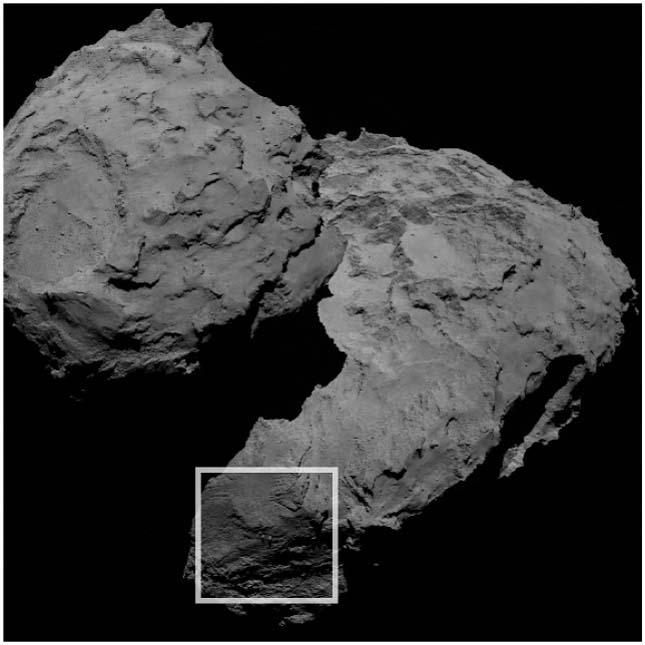 Ingókő a Csuri üstökösön
