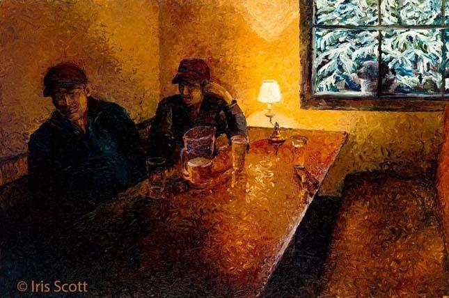 Iris Scott ujjal festett festményei