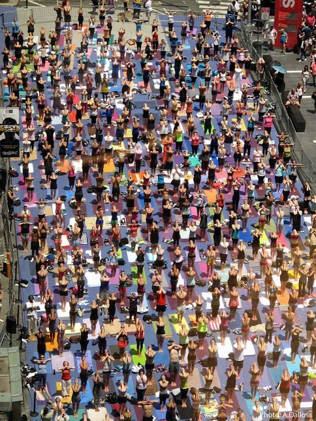 Jóga a Times Squaren