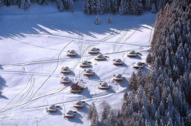 Luxusjurták az Alpokban, a Whitepod szállások