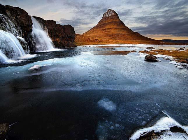 Kirkjufell hegy Izlandon
