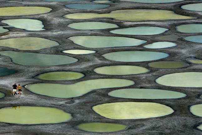Kliluk-tó, pöttyös tó Kanadában