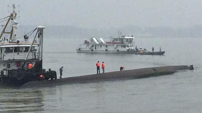 Hajó katasztrófa a Jangcén