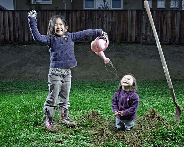 Jason Lee kreatív családi fotói