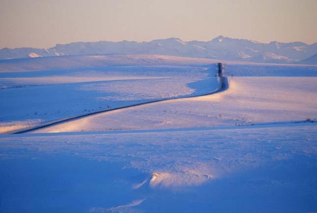 James Dalton Highway az Alaszkai olajmezőkhöz