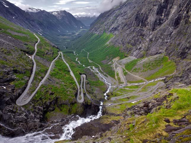 """""""Trollstigen"""" sztráda Norvégiában"""