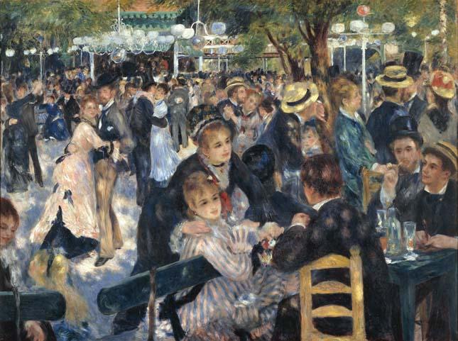 Pierre-Auguste Renoir -Bál a Moulin de la Galette-ben