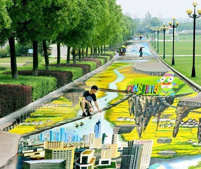 Leghosszabb és legnagyobb utcai festmény