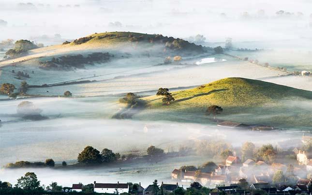 Ködös faucsaka Dél-nyugat Angliában