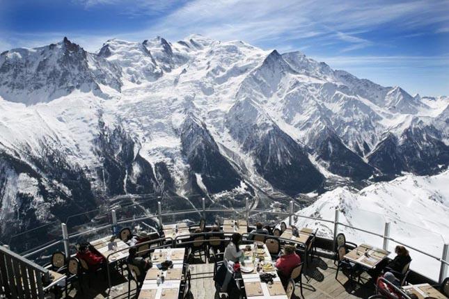Le Panoramic étterem, Chamonix, Franciaország
