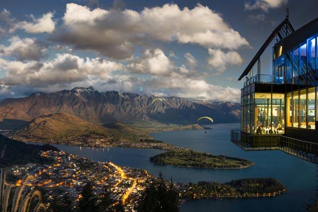 Skyline étterem, Queenstown, Új-Zéland