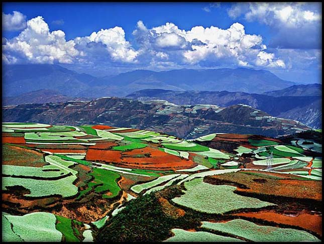 Lexiagou, színpompás kínai táj
