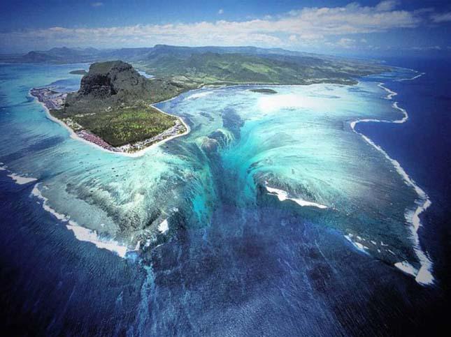 Vízalatti vízesés, Mauritius
