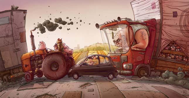Michal Dziekan Illusztráció