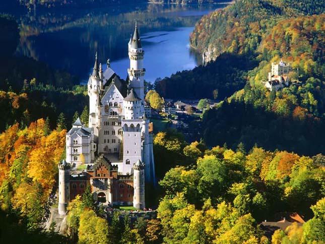 A gyönyörű németországi Neuschwansteint kastély