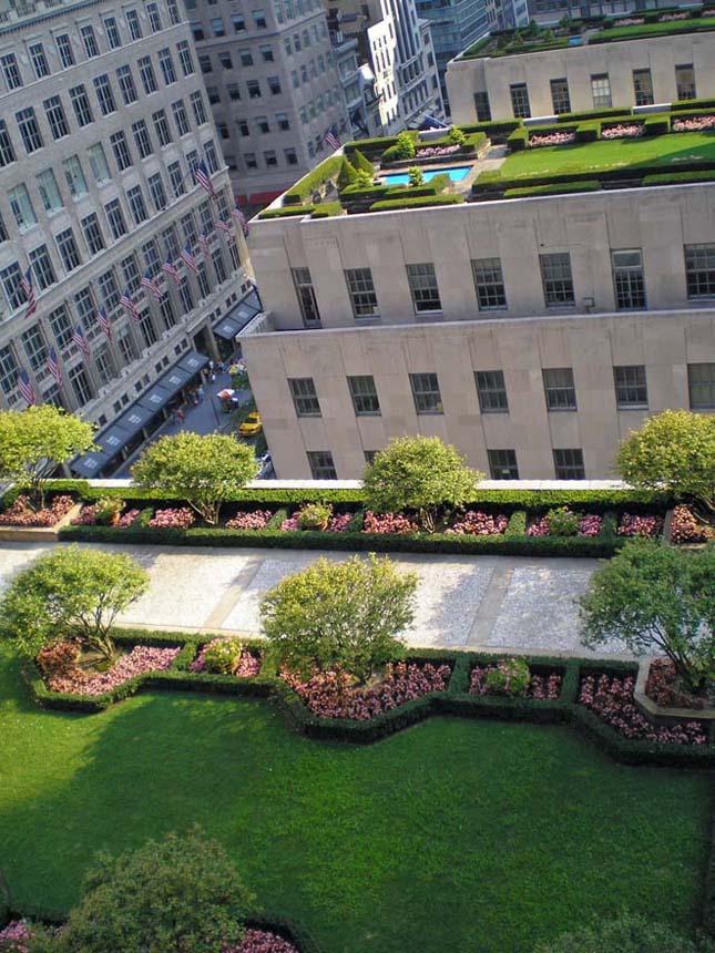 New York impozáns tetőtéri kertjei