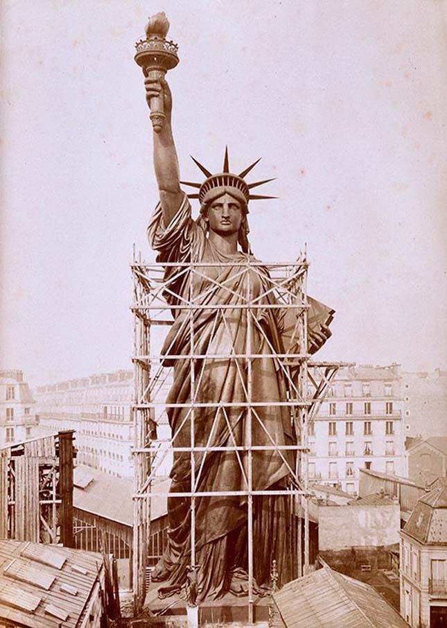 New Yorki szabadságszobor építése