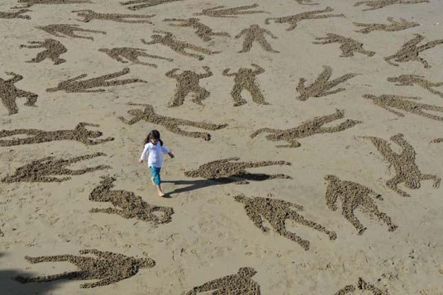 normandiai partraszállás homoksziluett