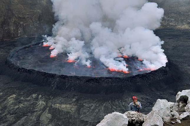 Lávató a Nyiragongo Vulkánban