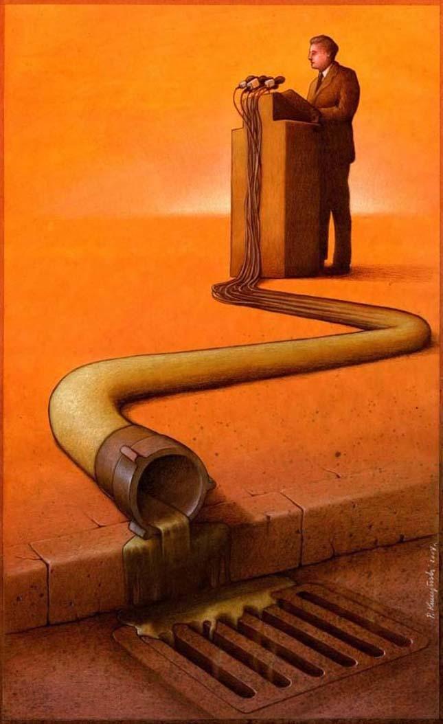Pawel Kuczynski szatirikus illusztrációi