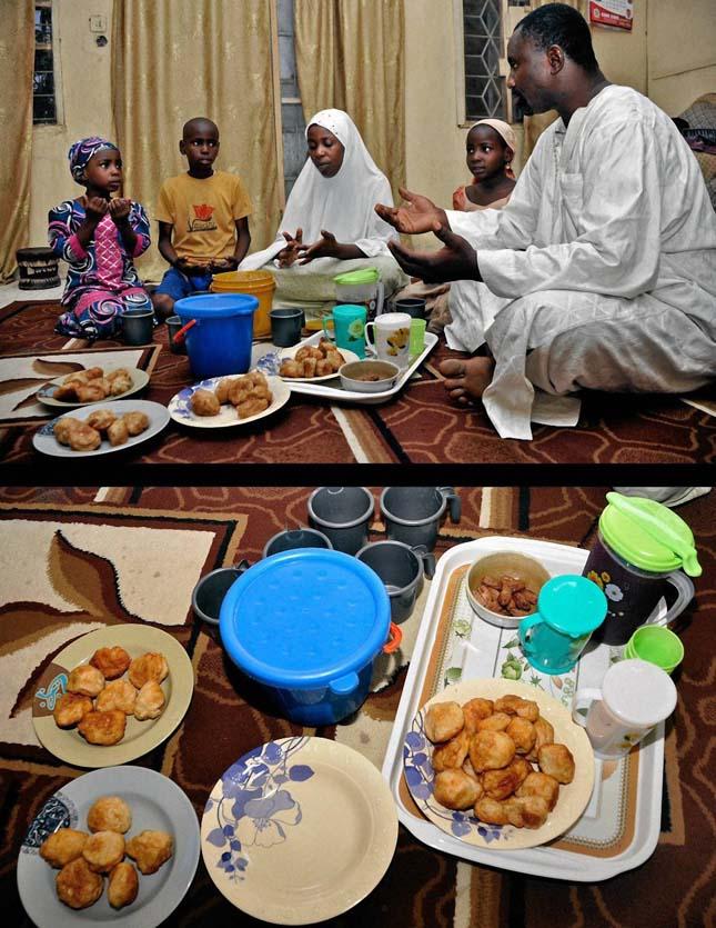 Muszlimok étkezése Ramadán idején